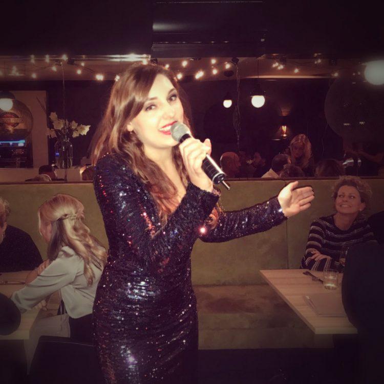 Kelly performing